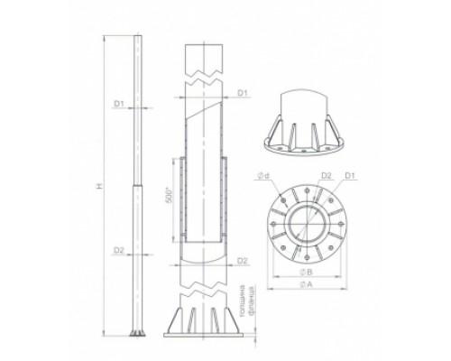 Опора ОС(ф) 0,4-9,0 / СФ-400-9,0